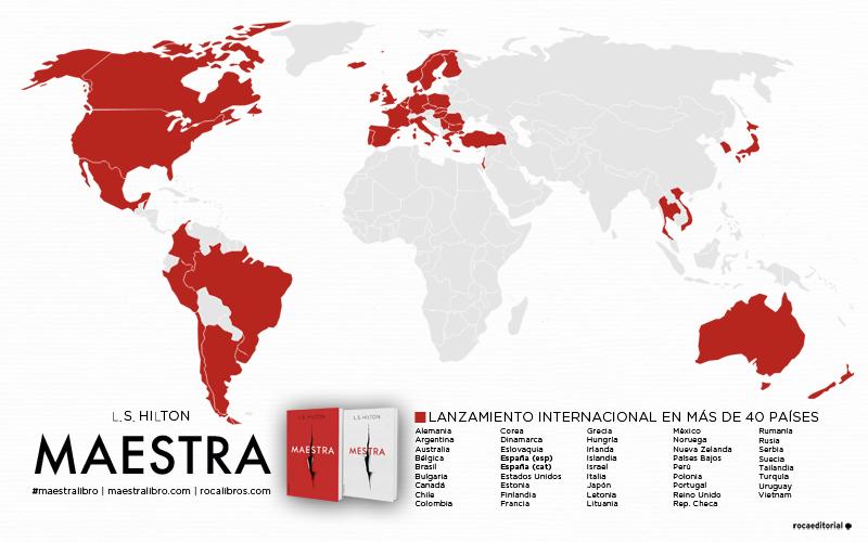 Mapa de los ms de 40 pases que publicarn Maestra