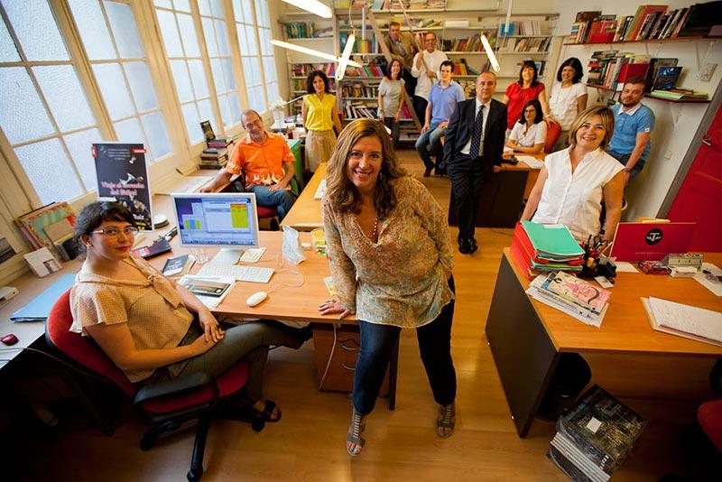 El equipo de Roca Editorial con Blanca Rosa Roca al frente