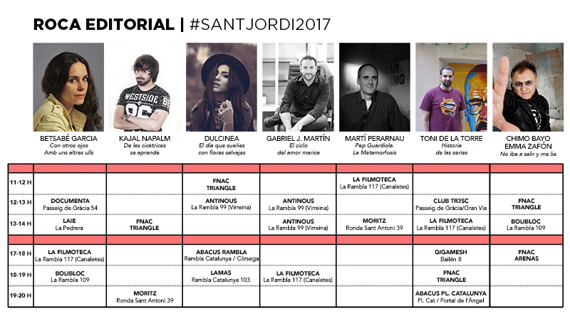 Firmas Sant Jordi 2017 Roca Editorial