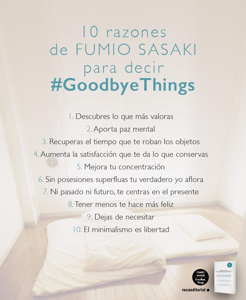 10 razones de Fumio Sasaki para decir Goodbye things