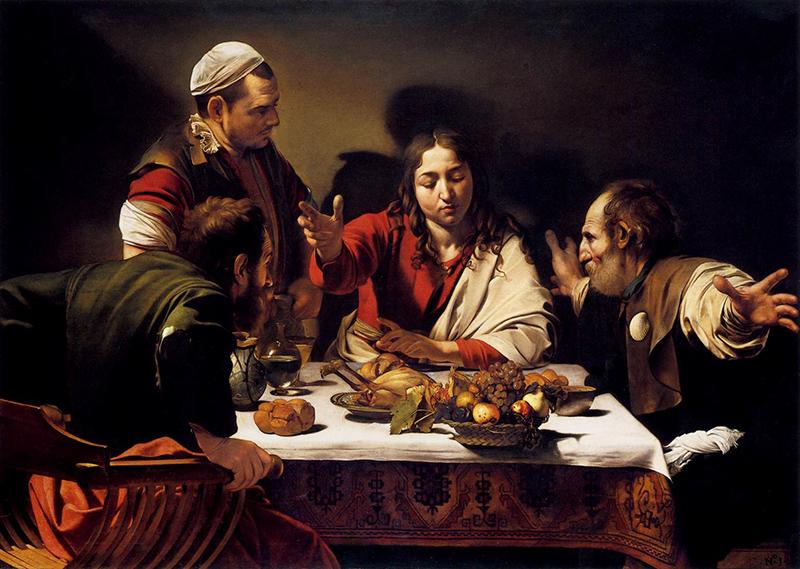 Caravaggio La cena de Emas