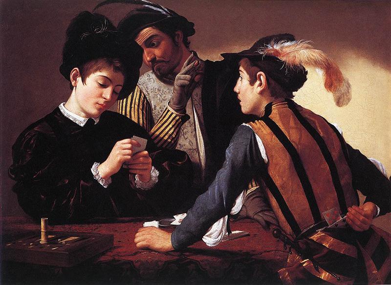 Caravaggio Jugadores de cartas