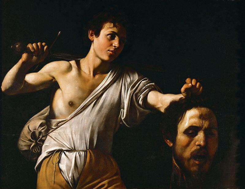 Caravaggio David con la cabeza de Goliat