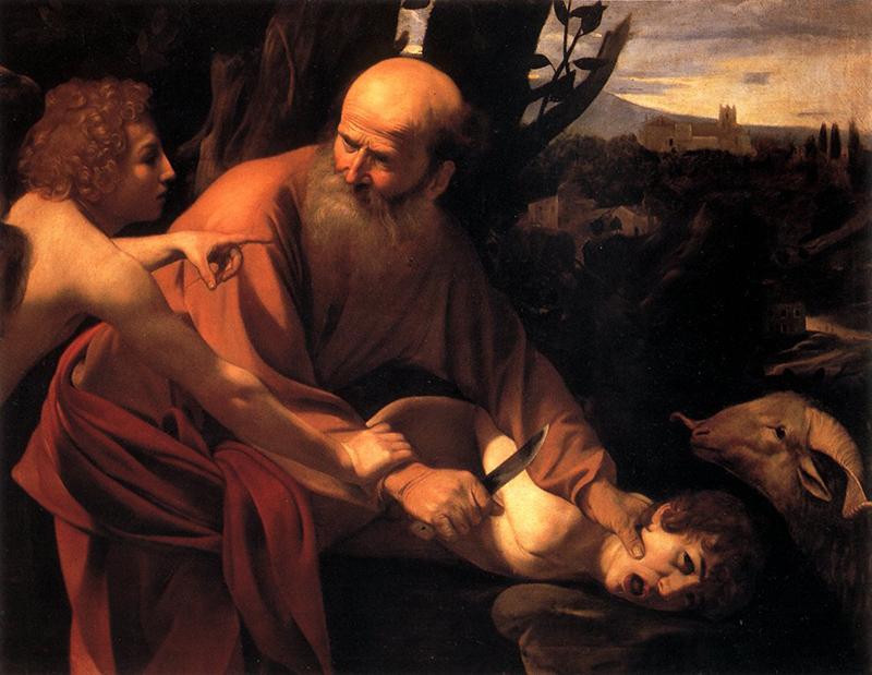 Caravaggio El sacrificio de Isaac
