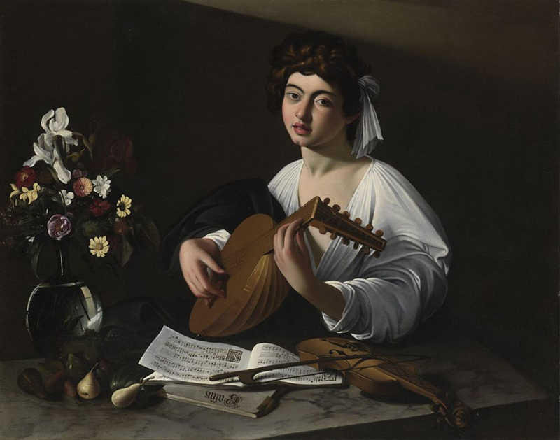 Caravaggio Apolo tocando el lad