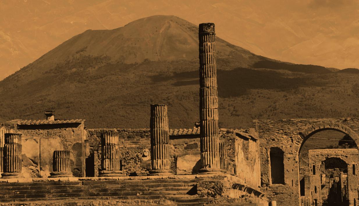 La erupcin del Vesubio trasfondo de la novela Los exiliados